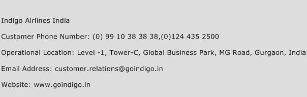Indigo Airlines India Phone Number Customer Service