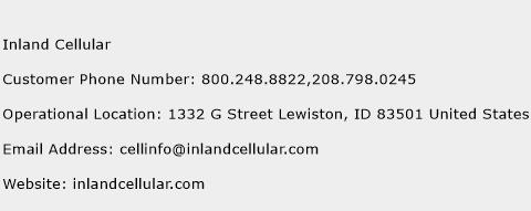Inland Cellular Phone Number Customer Service