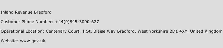 Inland Revenue Bradford Phone Number Customer Service