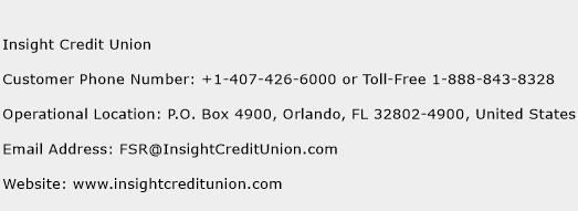 Insight Credit Union Phone Number Customer Service