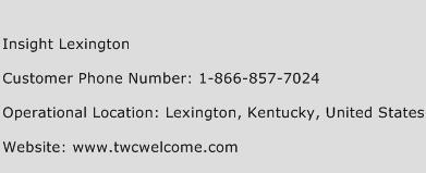 Insight Lexington Phone Number Customer Service