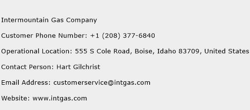 Intermountain Gas Company Phone Number Customer Service