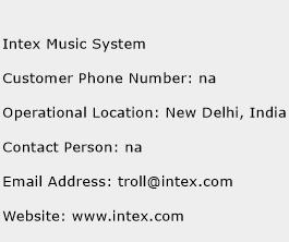Intex Music System Phone Number Customer Service