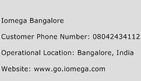 Iomega Bangalore Phone Number Customer Service