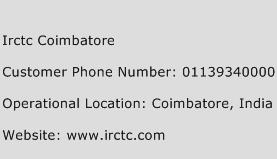 Irctc Coimbatore Phone Number Customer Service