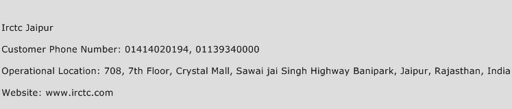 Irctc Jaipur Phone Number Customer Service