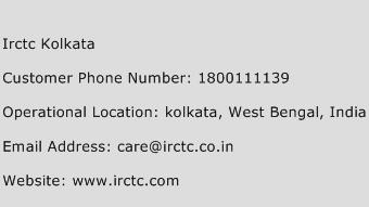 Irctc Kolkata Phone Number Customer Service
