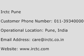 Irctc Pune Phone Number Customer Service