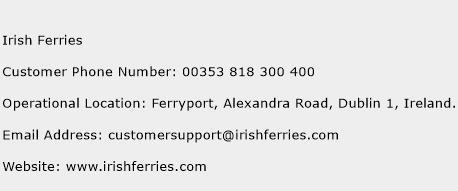 Irish Ferries Phone Number Customer Service