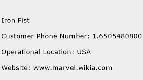 Iron Fist Phone Number Customer Service