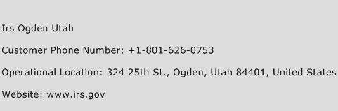 Irs Ogden Utah Contact Number  Irs Ogden Utah Customer Service Number  Irs Ogden Utah Toll