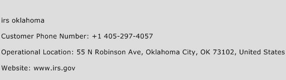 Irs Oklahoma Phone Number Customer Service