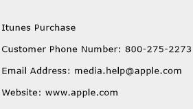 Itunes Purchase Phone Number Customer Service