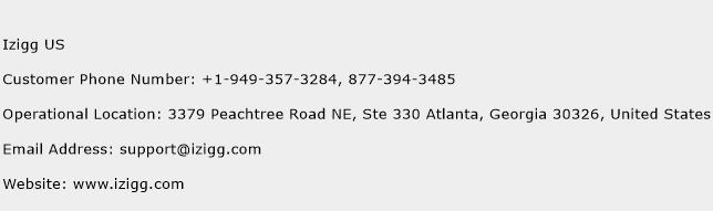 Izigg US Phone Number Customer Service