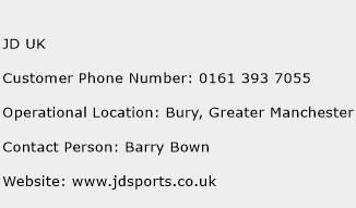 JD UK Phone Number Customer Service