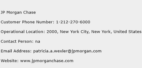 JP Morgan Chase Phone Number Customer Service