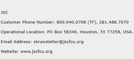 JSC Phone Number Customer Service