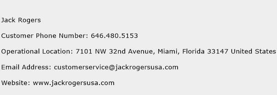Jack Rogers Phone Number Customer Service