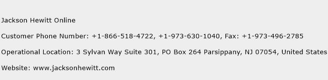 Jackson Hewitt Online Phone Number Customer Service