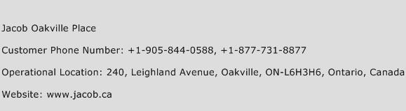 Jacob Oakville Place Phone Number Customer Service