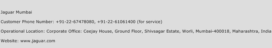 Jaguar Mumbai Phone Number Customer Service