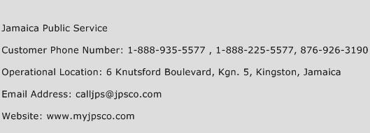 Jamaica Public Service Phone Number Customer Service
