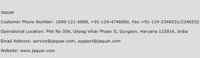 Jaquar Phone Number Customer Service