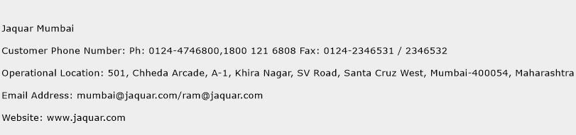 Jaquar Mumbai Phone Number Customer Service
