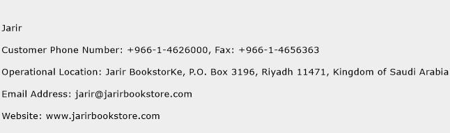 Jarir Phone Number Customer Service