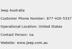 Jeep Australia Phone Number Customer Service