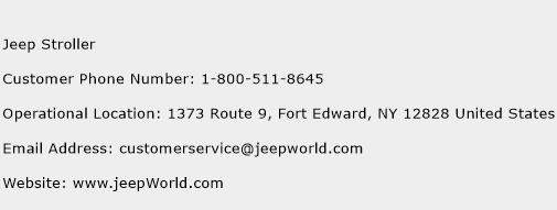 Jeep Stroller Phone Number Customer Service