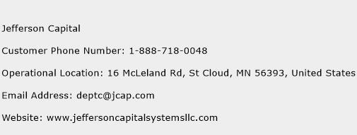 Jefferson Capital Phone Number Customer Service