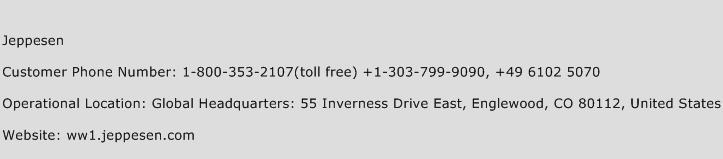 Jeppesen Phone Number Customer Service