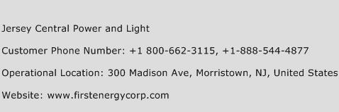 Jersey Central Power and Light Phone Number Customer Service
