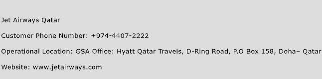 Jet Airways Qatar Phone Number Customer Service