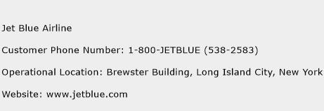 Jet Blue Airline Phone Number Customer Service