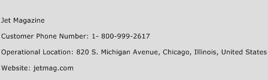 Jet Magazine Phone Number Customer Service