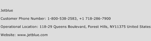 JetBlue Phone Number Customer Service