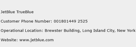 JetBlue TrueBlue Phone Number Customer Service
