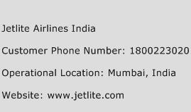 Jetlite Airlines India Phone Number Customer Service