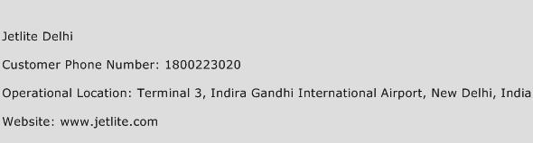 Jetlite Delhi Phone Number Customer Service