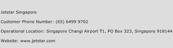 Jetstar Singapore Phone Number Customer Service