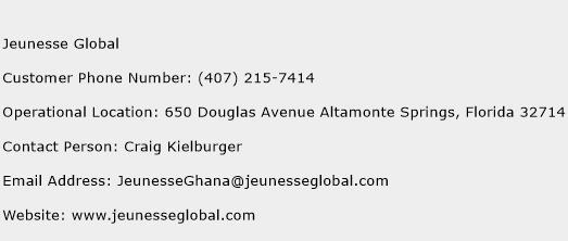 Jeunesse Global Phone Number Customer Service