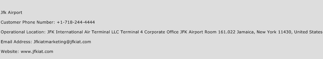 Jfk Airport Phone Number Customer Service