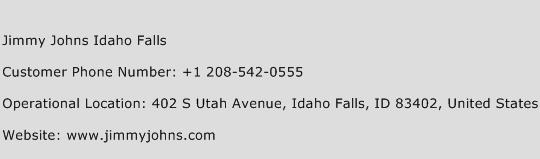Jimmy Johns Idaho Falls Phone Number Customer Service