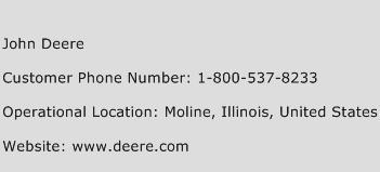John Deere Phone Number Customer Service