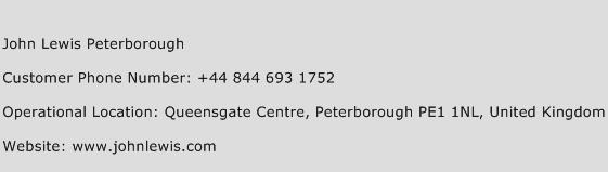 John Lewis Peterborough Phone Number Customer Service