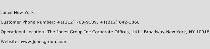 Jones New York Phone Number Customer Service