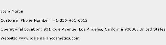 Josie Maran Phone Number Customer Service