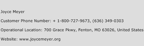Joyce Meyer Phone Number Customer Service